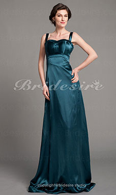 Stile impero elasticizzato Raso Raso terra Canotta Bridesmaid/ Wedding Party vestito