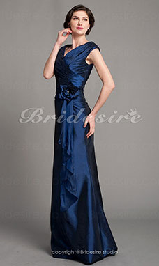 Sirena Taffeta Raso terra A V Mother Of The Bride vestito