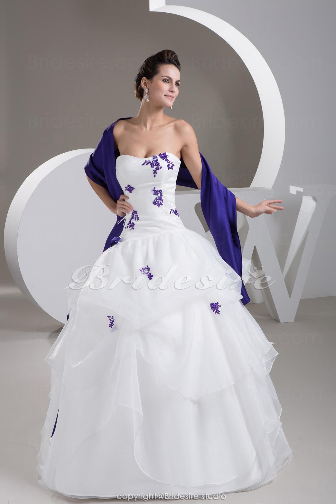 White And Purple Summer Wedding Dresses 63