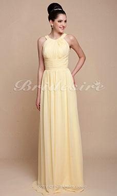 a8d1400e6823 Tubino Raso terra Stile impero Chiffon Stondata vestito damigella