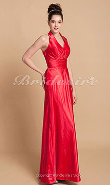 guaina/ Column Charmeuse Asimmetrico Ad anello Bridesmaid/ Wedding Party vestito