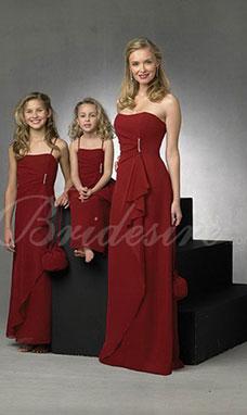 Trapezio Spaghetti Raso terra Chiffon Abito cerimonia bambini d10200c0347