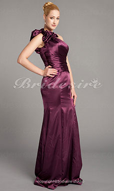 Sirena Taffeta Raso terra Monospalla Mother Of The Bride vestito
