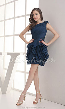 3305cb6b85aa Palloncino Monospalla Mini Corto Senza maniche Chiffon vestito