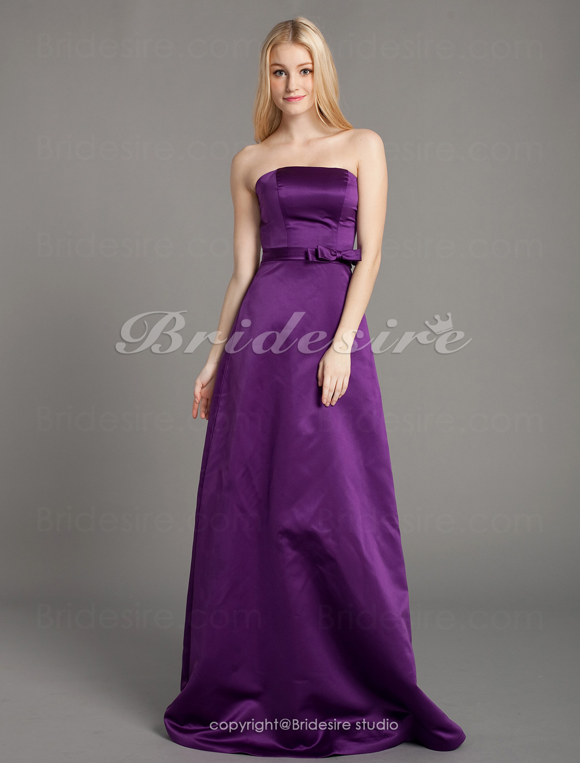 guaina/ Column elasticizzato Raso Raso terra Senza Spalline Bridesmaid/ Wedding Party vestito